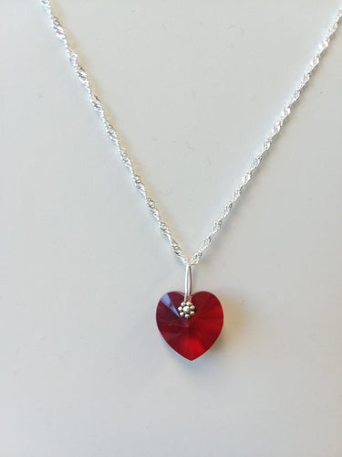 Swarovski crystal heart - Lively Accents