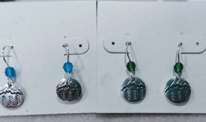Mountain and trees earrings - Lively Accents