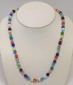 Multi Round Gemstone Necklace/Set