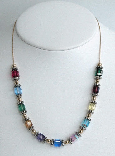 Swarovski Crystal Large Cube Necklace - Lively Accents