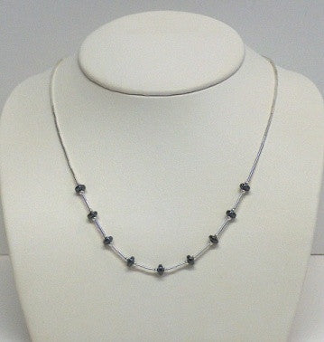 Sterling Silver & Hemitate Necklace - Lively Accents