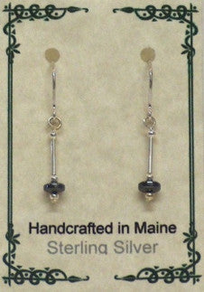 Sterling Silver & Hematite Earrings - Lively Accents