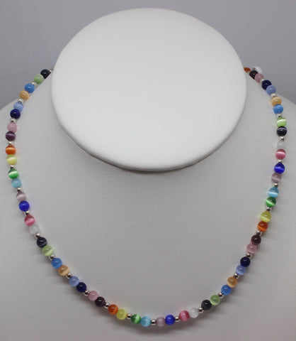 Multi Colored Fiber Optic Necklace
