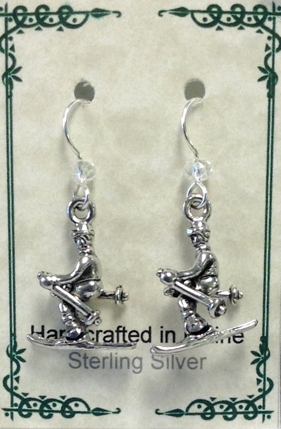 Downhill Skier Earrings