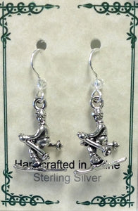 Downhill Skier Earrings - Lively Accents
