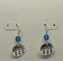 Load image into Gallery viewer, Mountain and trees earrings - Lively Accents