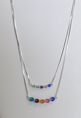 Mother's and or Family necklace with Swarovski crystals - Lively Accents