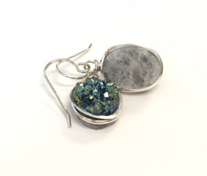 Natural Stone Crystal Druzy Earrings - Lively Accents
