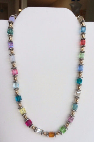 Swarovski Crystal Large Cube Necklace