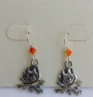 Campfire earrings
