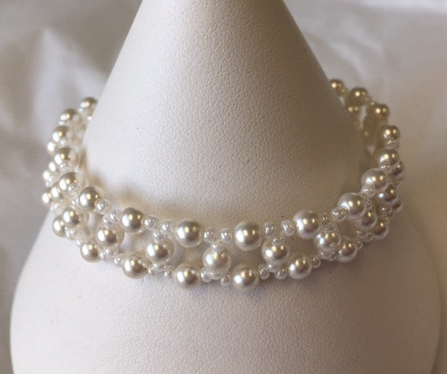 Pearl Lace Bracelet - Lively Accents