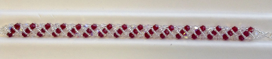 Hugs n Kisses Swarovski Crystal Bracelet - Lively Accents