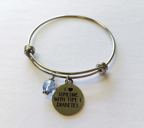 Type 1 Diabetic Support and Awareness Bangle