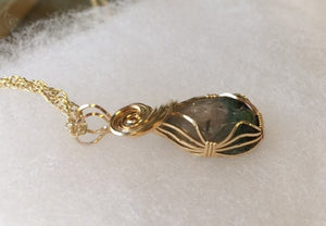 Maine Watermelon Tourmaline Pendant in Gold - Lively Accents
