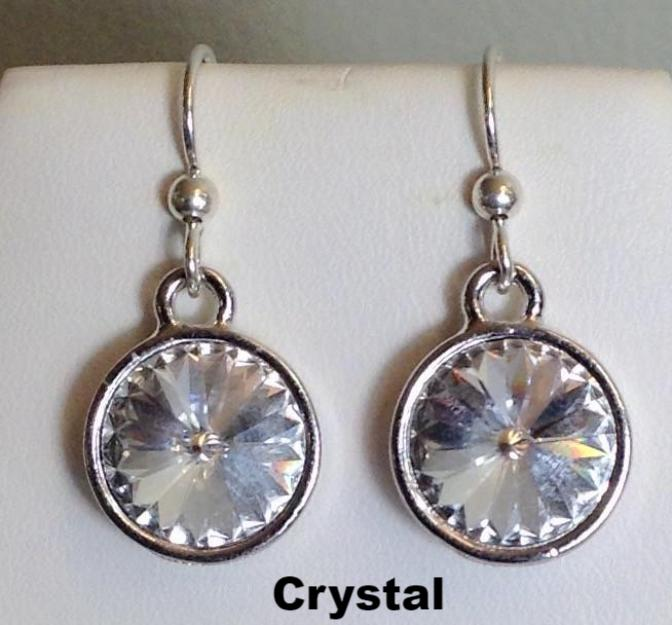 591589273 Swarovski Crystal Rivoli Earrings – Lively Accents