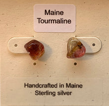 Load image into Gallery viewer, Maine Tourmaline Post Earrings