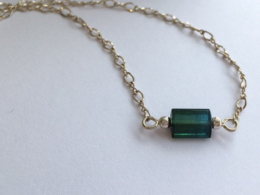Green Tourmaline from Maine - Lively Accents