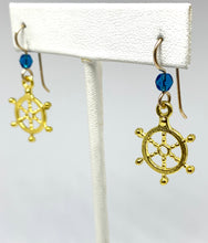 Load image into Gallery viewer, Captain's Wheel Earrings