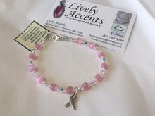 Load image into Gallery viewer, Breast Cancer Bracelet - Lively Accents