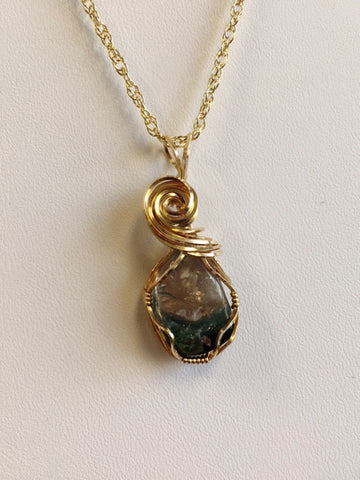 Maine Watermelon Tourmaline Pendant in Gold