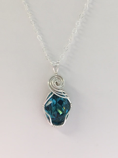 with necklace and mix bermuda in stunning crystal blue shapes shape have of zoom pendant silver the handcrafted wonderful galactic a swarovski sterling hq