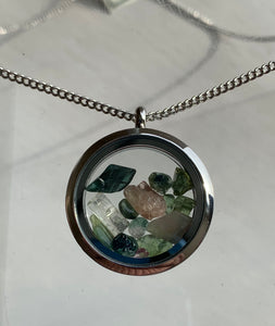 Maine Tourmaline Locket Necklace - Lively Accents