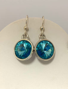 Swarovski Crystal Rivoli Dangle Earrings - Lively Accents
