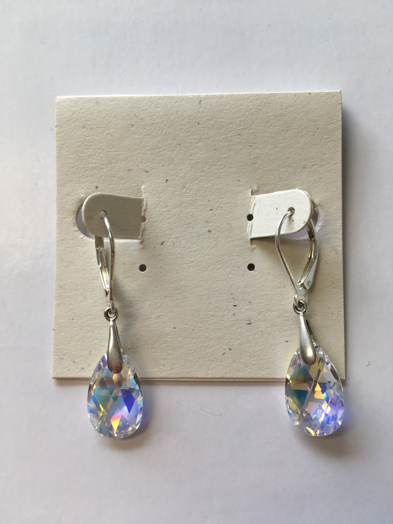 Swarovski Crystal Tear Drop Earrings - Lively Accents