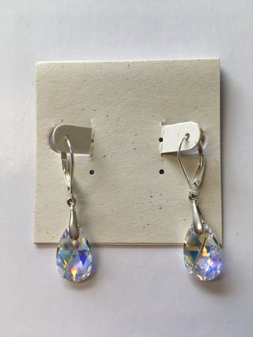 Swarovski Crystal Tear Drop Earrings