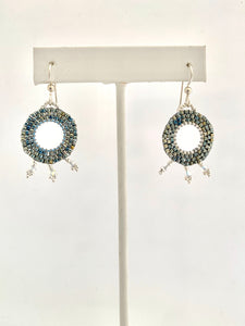 Burst Medallion Earrings - Lively Accents