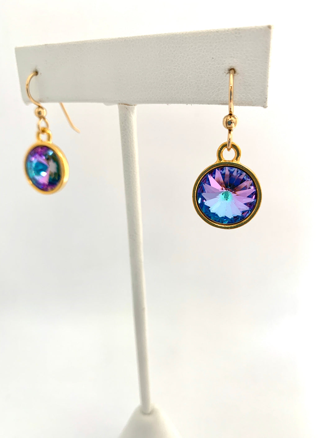 Swarovski Crystal Rivoli Gold Dangle - Lively Accents