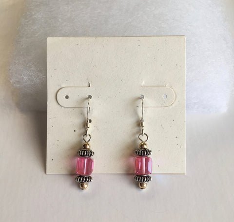 Swarovski Crystal Large Cube Earrings