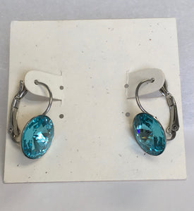 Swarovski Crystal Rivoli Leverback Earrings - Lively Accents