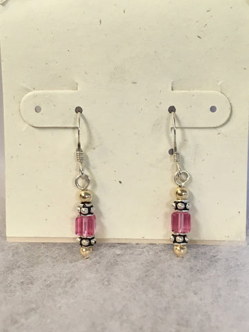 Swarovski Crystal Small Cube Earrings