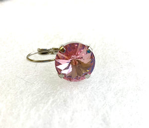 Swarovski Crystal Rivoli Prong Setting Leverbacks - Lively Accents