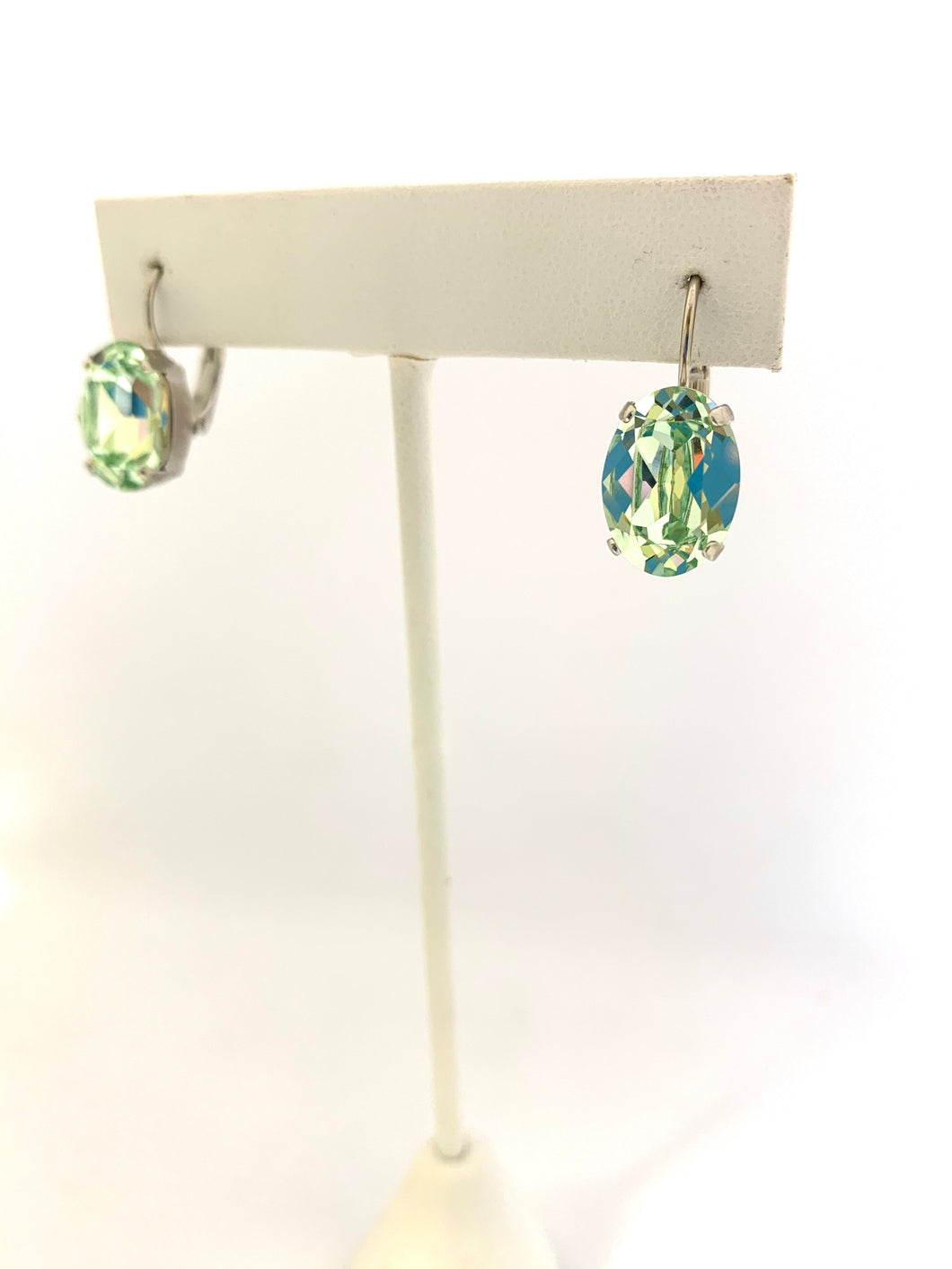 Swarovski Crystal Oval Leverbacks - Lively Accents