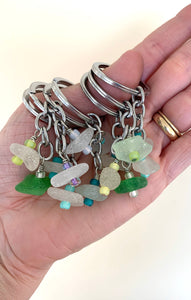 Sea Glass Key Chains