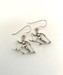 Cross Country Skier Earrings - Lively Accents