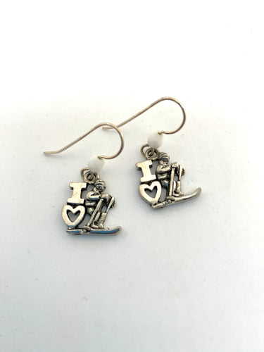 I love Skiing Earrings - Lively Accents