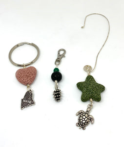 Diffuser ornament/aromatherapy air freshener, key rings, purse charms - Lively Accents