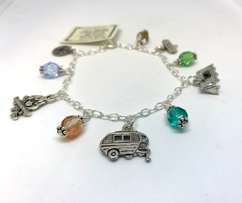 Camping Charm Bracelet - Lively Accents