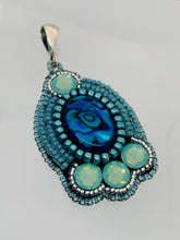 Load image into Gallery viewer, Paua Shell Bead Embroidered Necklace