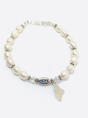 Freshwater Pearl Hope for Maine Bracelet