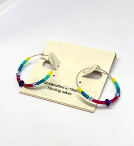 Summer Fun Hoop Earrings