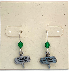 Camp Sign Earrings