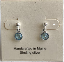 Load image into Gallery viewer, Swarovski Birthstone Channel Earrings