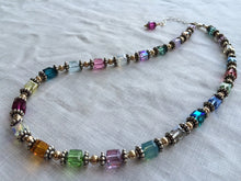Load image into Gallery viewer, Swarovski Crystal Large Cube Necklace - Lively Accents