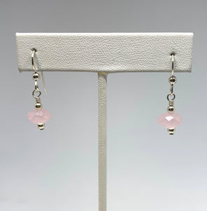 Maine Rose Quartz Earrings