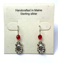 Load image into Gallery viewer, Ladybug Earrings