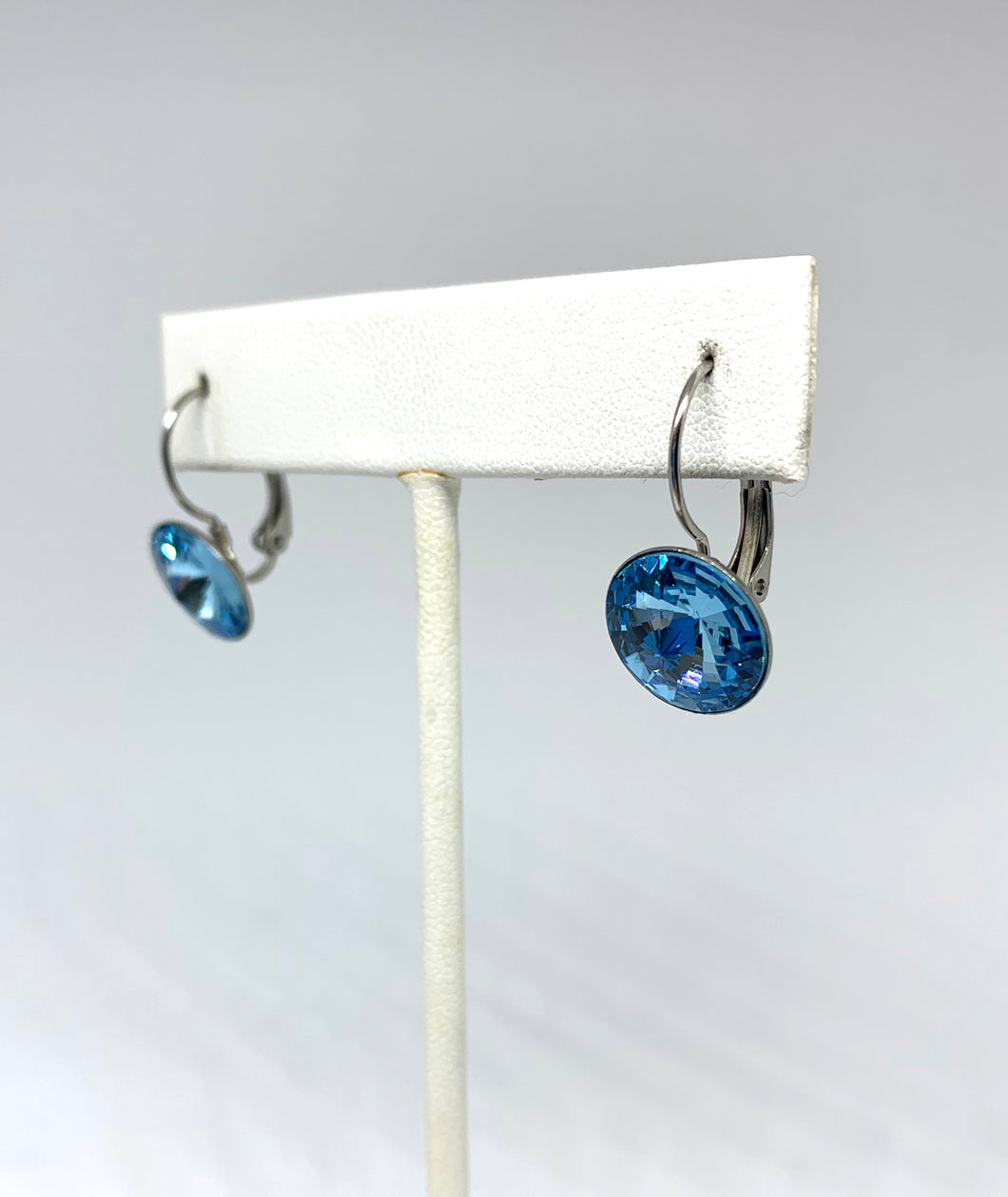 Birthstone Swarovski Large Leverback Earrings
